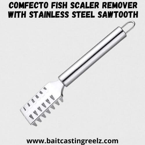 Comfecto Fish Scaler Remover with Stainless Steel Sawtooth