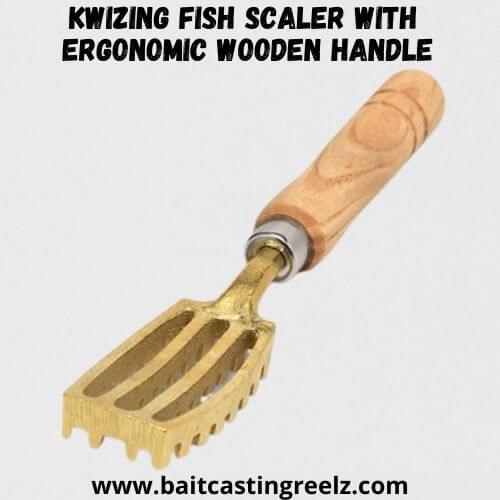 Kwizing Fish Scaler with Ergonomic Wooden Handle